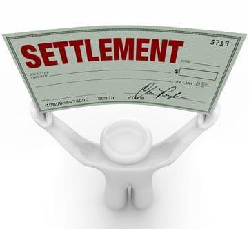 Insurance settlement check